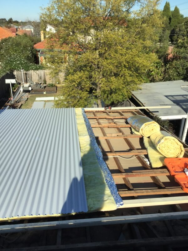 Installation of roof insulation