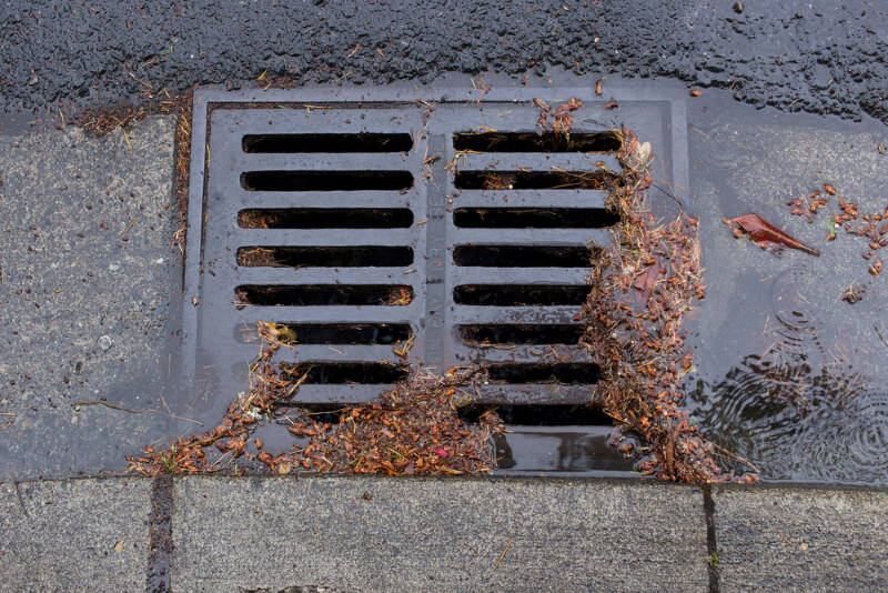 storm drain needs cleaning