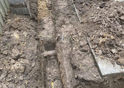 excavating old stormwater pipe Donaster